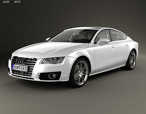 3D model Audi A7 Sportback with HQ interior 2011