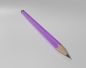 3D asset Purple Pencil