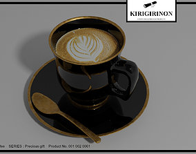 3D Upscale coffee latte