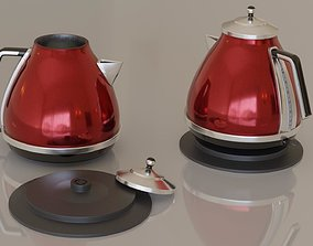 Contemporary colourful kettle1-red 3D model