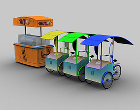 3D asset Ice Cream Cart