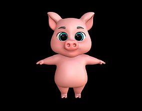 game-ready Asset - Cartoons - Character - Pig - 3D Models