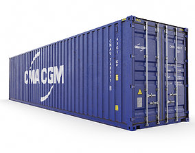 3D model 40 feet CMA-CGM High Cube shipping container
