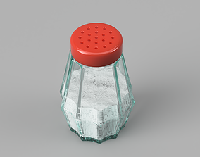 Salt and Pepper Shaker 3D asset