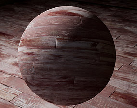 3D model Old Red Wooden Parquets Textures