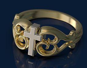 3D printable model Tribal Cross Ring