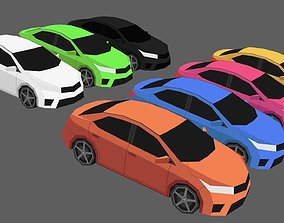 Game-ready car 3D model realtime
