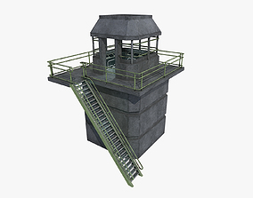 lowpoly Watchtower UPDATED 3D asset
