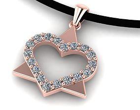 3D printable model Beautiful heart pendant