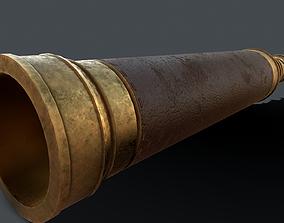 3D asset Pirate Spyglass