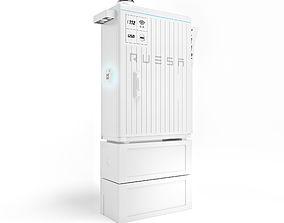 Distribution cabinet 3D model machine
