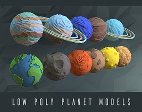 3D model Low poly planets