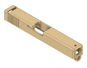 3D print model Glock 18 GBB airsoft slide replacement STL