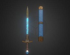 Fantasy Runic Sword 3D model