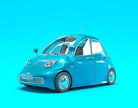 Car Cartoon Low Poly 3D asset