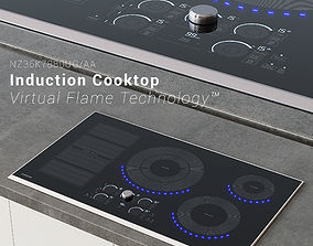3D model Samsung Induction Cooktop with Virtual Flame 1