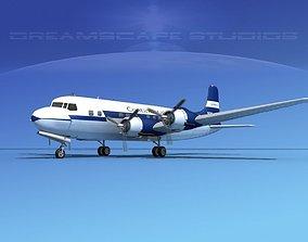 Douglas DC-6 Continental Airlines 3D