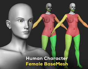 3D model Human Character Female BaseMesh - Woman Body