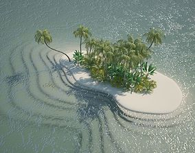 Island Scene cartoon 3D
