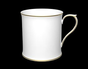 3D Tea Cup with gold ring