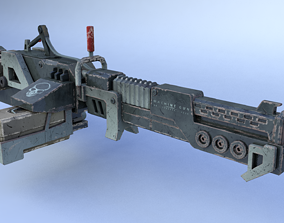 3D model machinegun