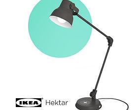 HEKTAR Work lamp with LED bulb dark gray 3D