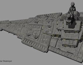 3D combat Imperial Star Destroyer Harrow