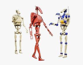 3D model rigged B1 Battle Droid