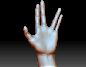 Vulcan salute Star Trek hand gesture 3D printable