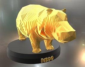 3D model Parametric Hippo