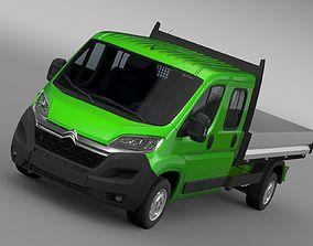 3D Citroen Relay Crew Cab Truck 2017