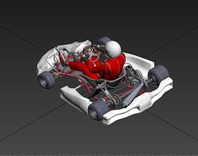 pilote realtime GO KART 3D MODEL DRIVER HELMET