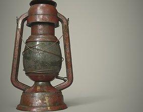 Old Muddy Lantern PBR 3D asset