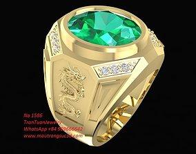 3D printable model 1586 Korea Men Ring with Dragon on side