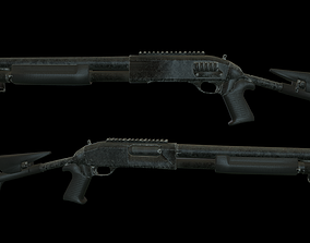 3D model low-poly Benelli M4