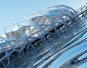 3D Futuristic Architectural Structure 17