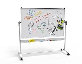 office White Board 3D model