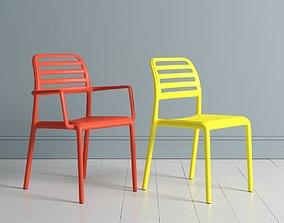 Restaurant Chair 3D minimalist