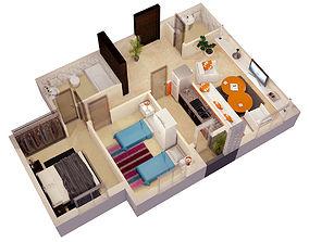 kitchen 3d FLOOR PLAN