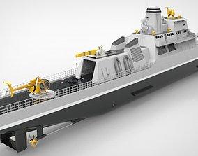 Offshore Patrol Vessel 90M 3D asset