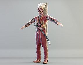 3D model Ottoman soldier