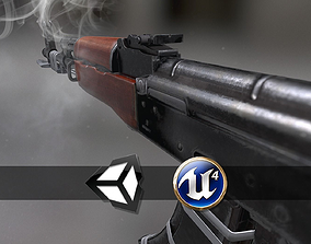 3D asset AK47 - PBR Weapon and Game Ready