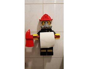 3D print model lego paper wc