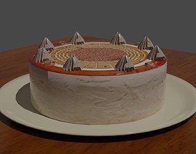 Low Poly Vanilla Cake 3D asset realtime