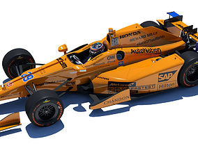 3D model Indycar Alonso 2017