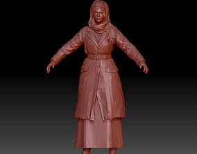 3D printable model Realistic female character statue