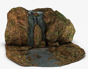 3D model Mossy Waterfall