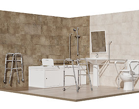 Bathroom for people with limited mobility 3D model