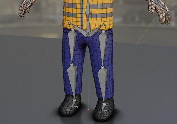 Cartoonish Construction Worker High-Poly Version - Blender-2.90.1