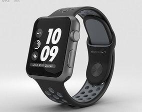 3D Apple Watch Nike 38mm Space Gray Aluminum Case Black 1